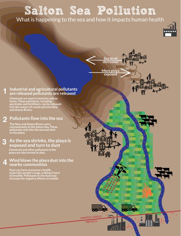 Salton Sea infographic developed for the community